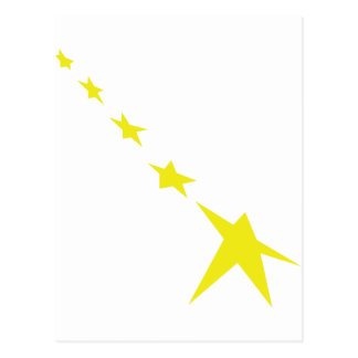 icono amarillo de 5 estrellas postal
