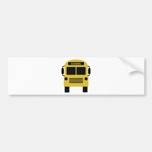 icono amarillo del autobús escolar pegatina de parachoque