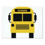 icono amarillo del autobús escolar invitación 10,8 x 13,9 cm
