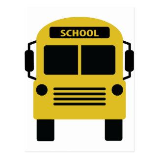 icono amarillo del autobús escolar postal
