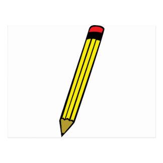 icono amarillo del lápiz tarjeta postal