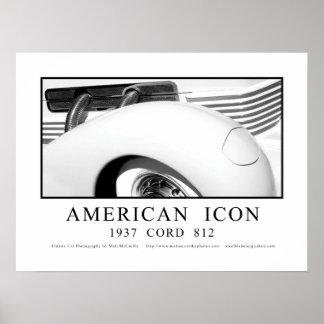 Icono americano - 1937 cordones 812 póster