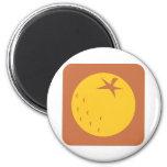 Icono anaranjado de la fruta imán