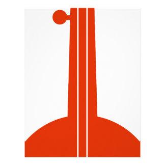 Icono anaranjado del instrumento musical del banjo membrete