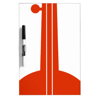 Icono anaranjado del instrumento musical del banjo pizarras blancas