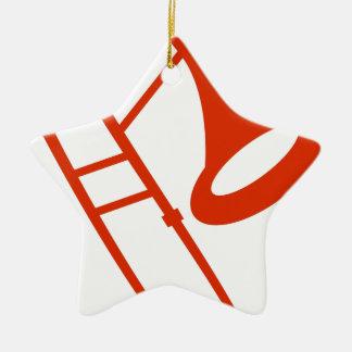 Icono anaranjado del instrumento musical del adorno de cerámica en forma de estrella