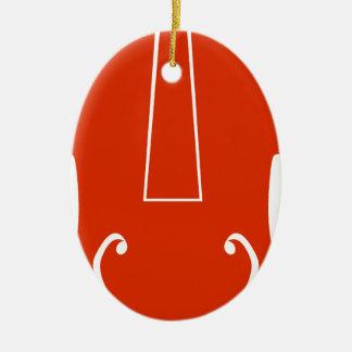 Icono anaranjado del instrumento musical del adorno ovalado de cerámica