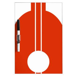 Icono anaranjado del instrumento musical del laúd pizarras blancas