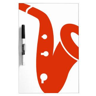 Icono anaranjado del instrumento musical del tablero blanco