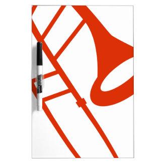 Icono anaranjado del instrumento musical del pizarra