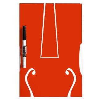 Icono anaranjado del instrumento musical del pizarras blancas