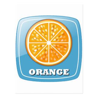 Icono anaranjado postales
