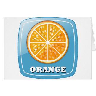 Icono anaranjado tarjeta de felicitación