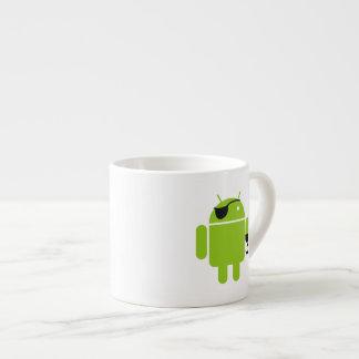 Icono androide del robot como pirata taza espresso