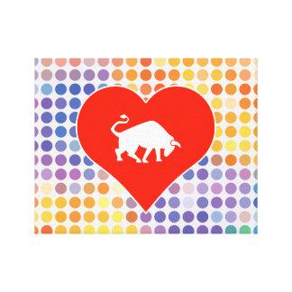 Icono animal impresión en lona estirada