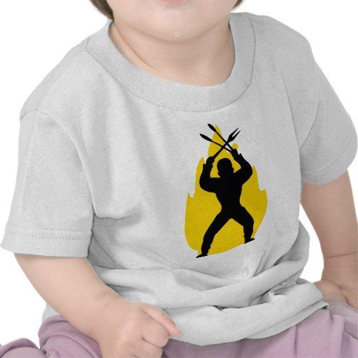 icono anormal de la barbacoa camisetas