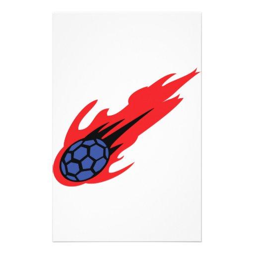 icono ardiente del balonmano papelería de diseño
