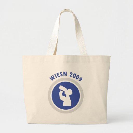 icono azul 2009 del wiesn bolsas de mano