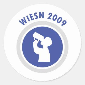 icono azul 2009 del wiesn etiquetas redondas