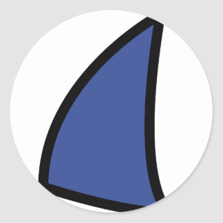 icono azul de la navegación pegatina redonda