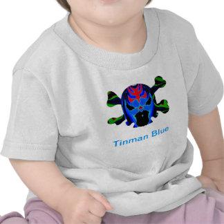 Icono AZUL de TINMAN: Dibujo animado divertido gra Camisetas