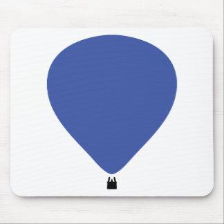 icono azul del globo de aire caliente alfombrillas de ratones