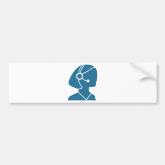 Icono azul del representante de ventas del pegatina para auto