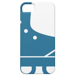 Icono azul del Rollerblade iPhone 5 Carcasas