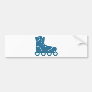 Icono azul del Rollerblade Pegatina Para Auto