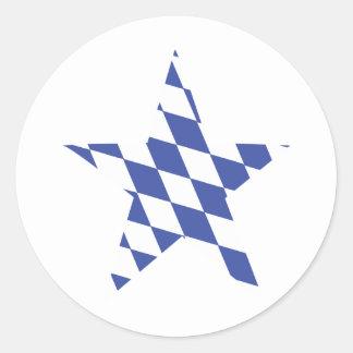 icono bávaro de la estrella etiqueta redonda