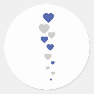 icono bávaro de los corazones etiqueta redonda