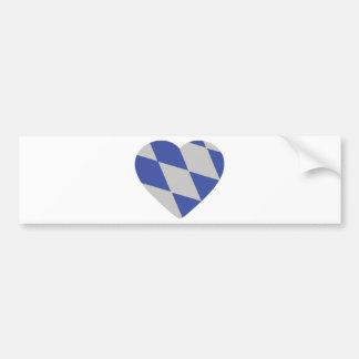 icono bávaro del corazón pegatina de parachoque