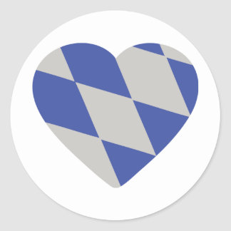 icono bávaro del corazón pegatina redonda
