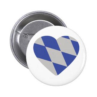 icono bávaro del corazón pins