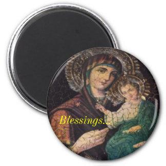 Icono - bendiciones… imán redondo 5 cm