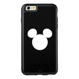 Icono blanco del logotipo el   Mickey de Disney Funda Otterbox Para iPhone 6/6s Plus