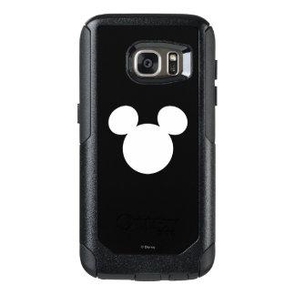 Icono blanco del logotipo el   Mickey de Disney Funda Otterbox Para Samsung Galaxy S7