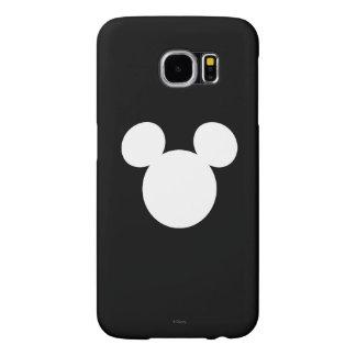Icono blanco del logotipo el   Mickey de Disney Fundas Samsung Galaxy S6