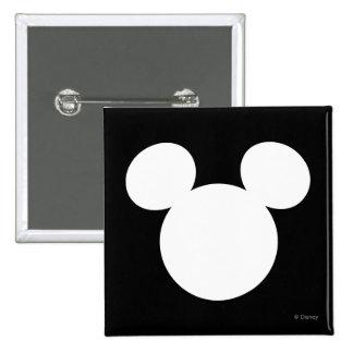 Icono blanco del logotipo el | Mickey de Disney Pin Cuadrado
