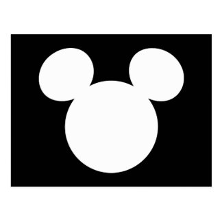 Icono blanco del logotipo el | Mickey de Disney Postales