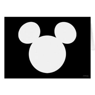 Icono blanco del logotipo el | Mickey de Disney Tarjeta De Felicitación