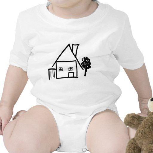 icono casero de la casa traje de bebé