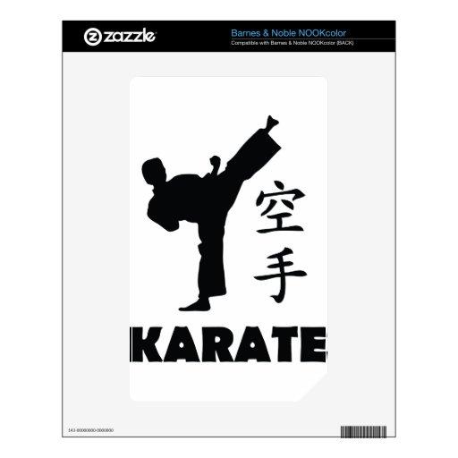 icono chino de los símbolos del hombre del karate calcomanía para NOOK color
