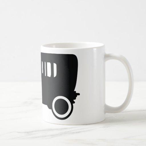 icono clásico del coche del oldtimer tazas de café