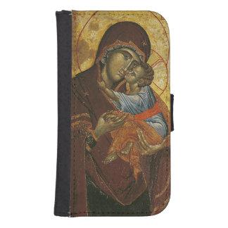 """Icono conocido como la """"Virgen del Tsar Dushan"""", c Funda Cartera Para Teléfono"""