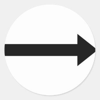 icono correcto de la flecha etiqueta redonda