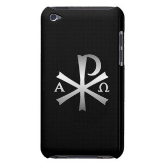Icono cristiano alfa y lábaro de Omega Barely There iPod Funda