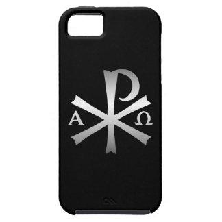 Icono cristiano alfa y lábaro de Omega iPhone 5 Cobertura