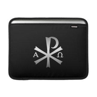 Icono cristiano alfa y lábaro de Omega Fundas MacBook