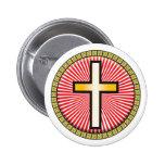 Icono cruzado cristiano pins